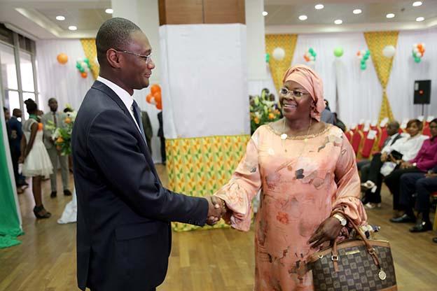 Monsieur le Ministre et Monsieur Diomandé (DGA)