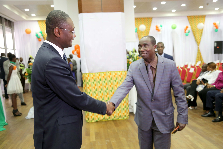 Monsieur le Ministre et Monsieur Diaba (DGA)